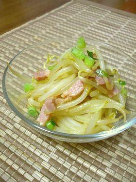 もやしサラダ★すし酢+カレー粉