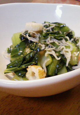 小松菜とじゃこのさっと煮