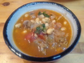 大豆とラム肉のトマト煮