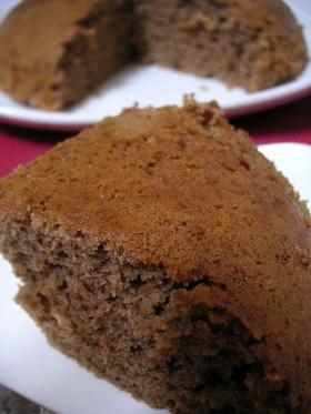 炊飯器♪ノンオイル☆ココアでチョコケーキ