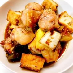 焼鳥風☆鶏と厚揚げの甘辛炒め