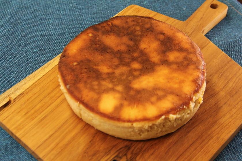 フライパンでベイクドチーズケーキ