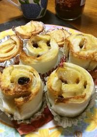 食パンでお手軽 アップルシナモンロール