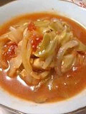 鶏ささ身とキャベツのトマト煮
