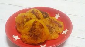 離乳食☆かぼちゃと玉ねぎのもちもちおやき