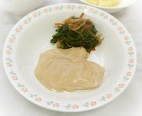 【学校給食】鶏肉の酒蒸し(甘みそ味)