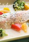 鮭のレッドカレークリーム煮☆