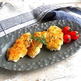 鱈のマヨチーズパン粉焼き