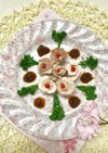 豚肉のお花畑&梅肉ソース添え
