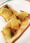 りんご+薩摩芋のハニーシナモントースト♡