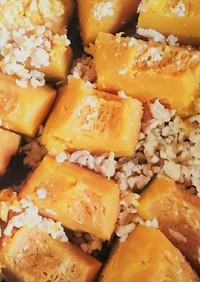 簡単副菜☆かぼちゃの煮物☆からしで減塩