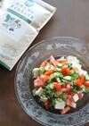 亜麻仁油で食べすぎをリセット!1分サラダ