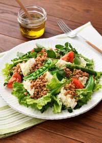 大豆の肉みそと豆腐のパワーサラダ