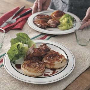新玉ねぎと鶏肉のステーキ