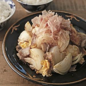 新玉ねぎと豚肉のチャンプルー