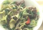相馬牛で栄養たっぷり☆牛肉のスタミナ炒め