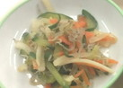 カルシウムたっぷり!野菜のじゃこ和え