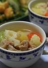 簡単たくさん野菜のコンソメスープ