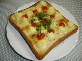 朝食に☆ころころ♪ベビーチーズのトースト