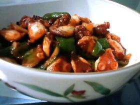 韓国風 タコのキムチ炒め