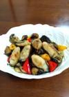 牡蠣と炒め野菜のマリネ