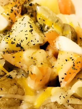塩ゆで温野菜☆ジャガイモのチーズ&バター