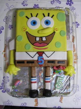 スポンジボブのケーキ