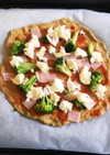 低糖質 ふすまパンミックスでピザ生地