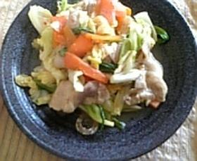 我が家の豚野菜炒め