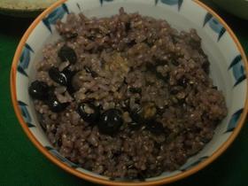 ☆黒米と黒豆入りご飯★