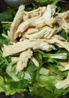 香味野菜と茹で鶏のサラダ☆ポン酢ドレ