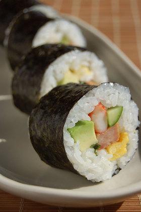 巻き寿司♪アボカド&スパム