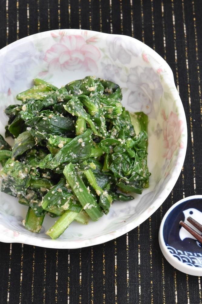 小松菜のすりごまナムル【作り置き】