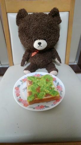 アボカドとはちみつ梅干しのトースト