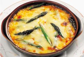 アスパラガスと豆腐のグラタン