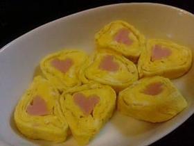 可愛すぎっ♪ハート型卵焼き♪