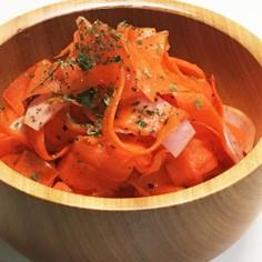 にんじんとスライスハムの簡単サラダ