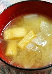 大根とゴボウの味噌汁