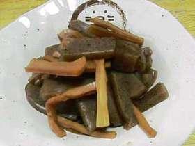 山形の味?   コンニャクとメンマの煮物
