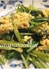 ササッと1品♪壬生菜と卵の炒め物