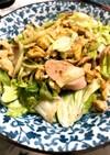 魚肉ソーセージとレタスのマヨ炒め