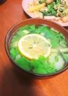 【減量中】ささみとセロリのレモンスープ