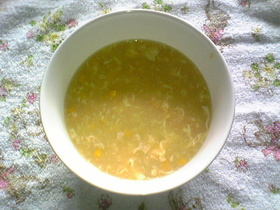 ★めっちゃ簡単★コーンと玉子の中華スープ