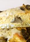 マッシュルームの塩糀オムレツ