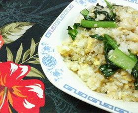 ✿ママランチに❀小松菜とじゃこチャーハン