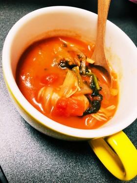 残り物野菜で!トマトのスープ