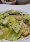 春野菜と海老のクリームパスタ