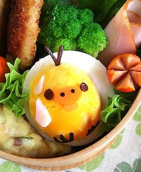 ゆで卵deキイロイトリ♪キャラ弁のおかず