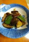 茄子とピーマンの梅味噌炒め(減塩レシピ)