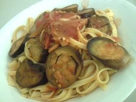 ナスとトマトのスパゲティ*